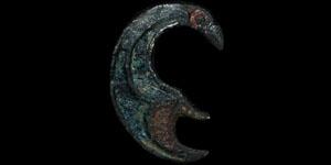 Roman - Enamelled Raven Plate Brooch