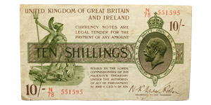 Treasury - 1922 ND Issue - Fisher - 10 Shillings