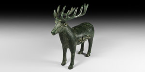 Western Asiatic Sassanian Stag Money Box
