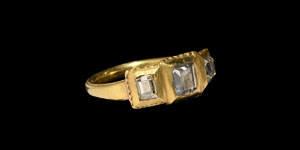 Jacobean or Carolean Era Gold Ring with Diamonds