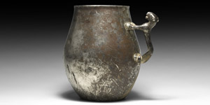 Silver Panther-Handled Cup