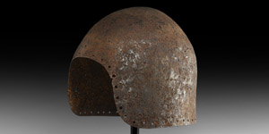 Medieval Transitional Bascinet Helmet