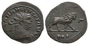 Ancient Roman Imperial Coins - Carausius - Legion IIII Flavius Antoninianus