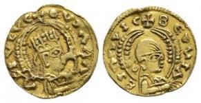 World Coins - Aksum - Ousanas - Gold Third Solidus