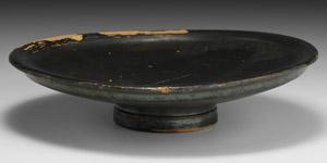 Greek Blackware Plate