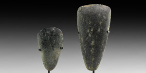 Stone Age Polished Axehead Display