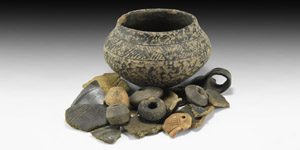 Bronze Age Vessel and Shard Group