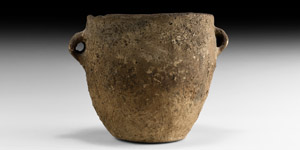Neolithic Twin-Handled Vessel