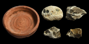 Neolithic Dish and Flints
