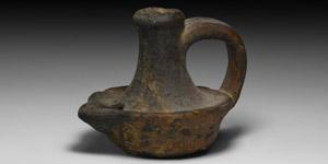 Medieval Handled Lamp