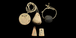 Bronze Age Ceramic Weight Group