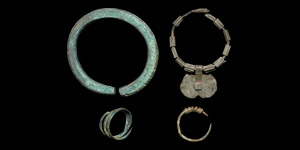 Bronze Age Ring and Bracelet Group