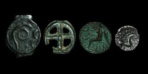 Celtic - Class 1 Potin, Cunobelin Bronze, Iceni Unit and Wheel Money