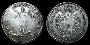 World Malta - Emmanuel Pintom - 1768 - 2 Scudi