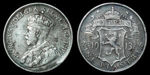 World Cyprus - George V - 1913 - 9 Piastres
