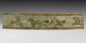 Gilt Silver Belt Section with Animals