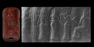 Neo-Sumerian Cylinder Seal with Presentation Scene