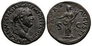 Vespasian - Pax Sestertius