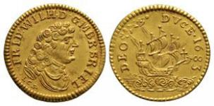 German States - Brandenburg - Guinea Coast - 1683 - Gold Trade Ducat
