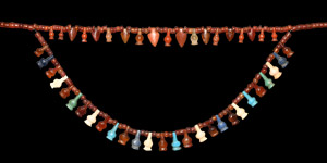 Carnelian and Glass Amulet Necklace