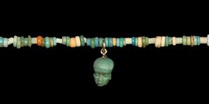 Mummy Bead Necklace with Pataikos Pendant