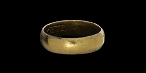 Gold I AM YOVRE ONE Posy Ring