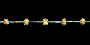 Necklace with Gold Scarabs