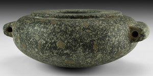 Squat Granite Jar