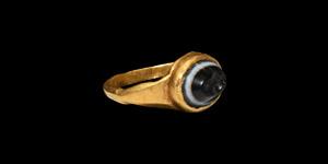 Gold Ring with Serapis Gemstone