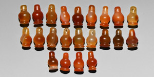 Carnelian Poppy Amulet Collection