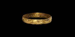 Decorated Respect is the Valewe Gold Posy Ring