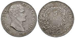 France - Year 12 M - 5 Francs