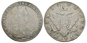 Russia - Catherine II - 1782 - Rouble