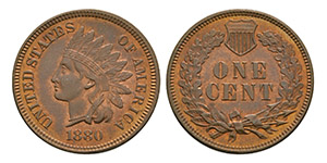 USA - 1880 - Proof Indian Cent