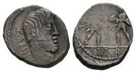 L Titurius L.f. Sabinus - Sabine Women Denarius