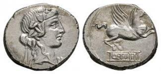 Q Titius - Pegasus Denarius