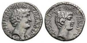 Mark Antony and Octavian - Double Portrait Denarius
