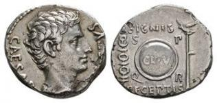Augustus - Shield Denarius