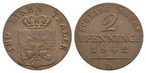 German States - Prussia - 1842 - Two Pfenninge