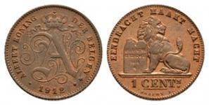 Belgium - 1912 - 1 Centime