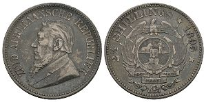 South Africa - 1895 - Halfcrown