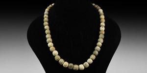 Mammoth Bone Bead Necklace String