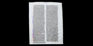 French Bible Manuscript Page
