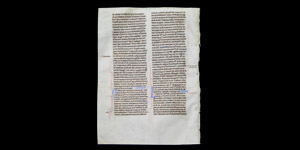 English Henry III Period Bible Manuscript Page