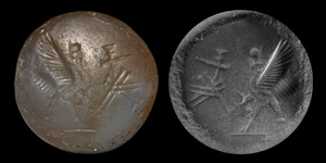 Neo-Babylonian Stamp Seal with Inscription