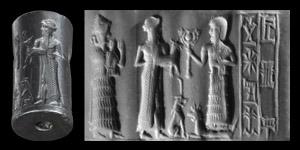 Old Babylonian Cylinder Seal for Ur-egal, Servant of the Healing God Damu