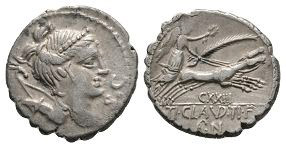 Ti Claudius Ti f Ap n Nero - Diana Denarius Serratus