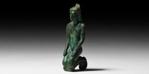 Kneeling Kouros Statuette