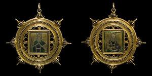 Gilt Silver Spanish Pendant