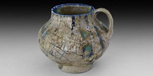 Kashan Blue Glazed Cup